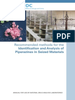 Recommended Methods for the Identification and Analysis of Piperazines in Seized Materials (2013)