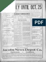 Testimonies Acadian Reminiscences 1910
