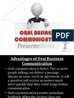 Oral Business Communication