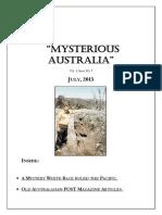 Mysterious Australia Newsletter - July 2013