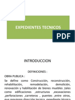 Curso de Titulacion Expediente Tecnico. Introduccion