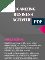Organizing Business Activities