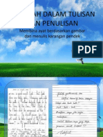 Masalah Dalam Tulisan Dan Penulisan