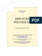 Hume Discours Politiques