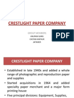 Crest Light case study - salesman evaluation and performance monitoring