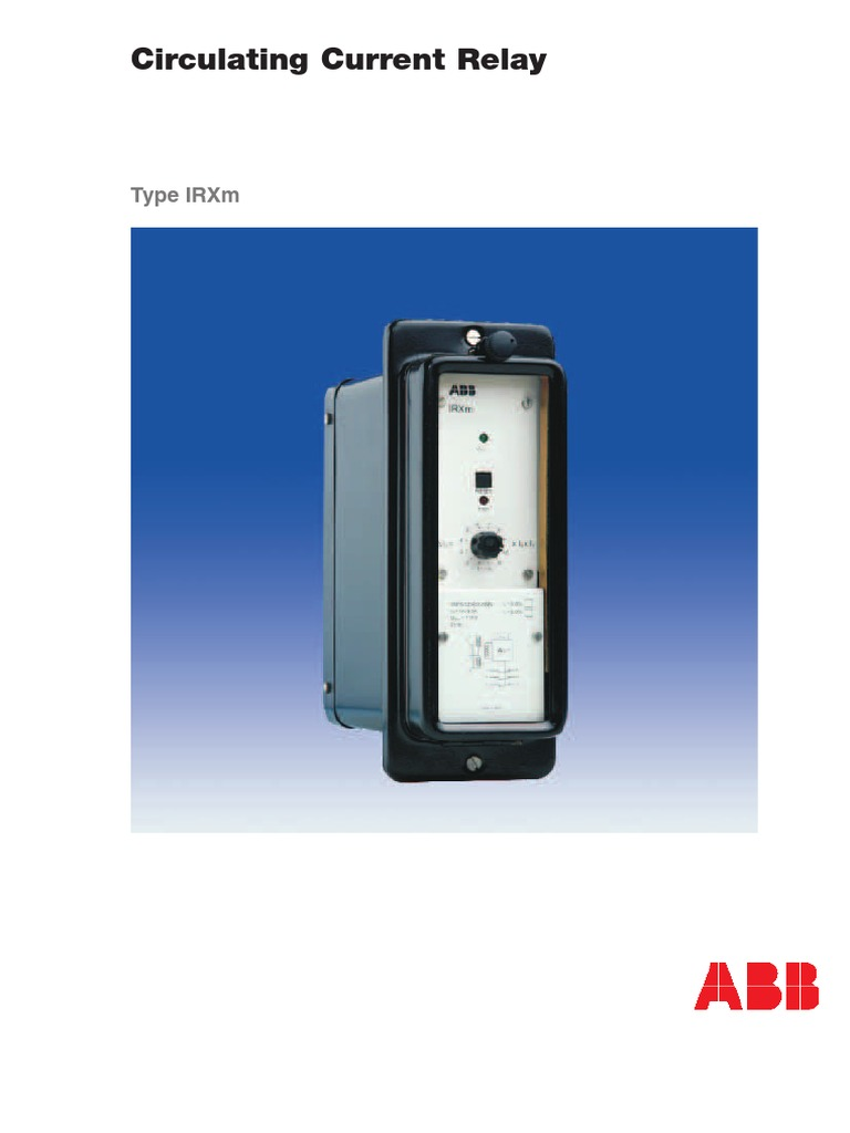 Under Current Relay Abb Irxm Product Guide Transformer
