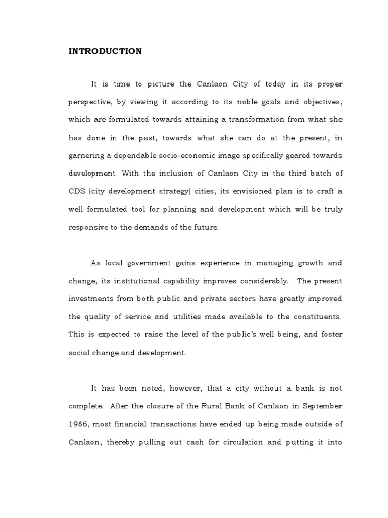 Feasibility Study Of A Bank In Canlaon City Cheque Feasibility Study