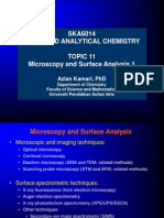 Topic 9 Microscopy and Surface Analysis