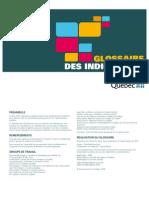 Glossaire Des Indicateurs - 2009