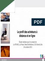Profil des acheteurs à distance et en ligne 2012