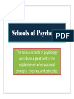 Schools of Psychology - Slides