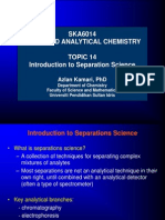 Topic 11 Introduction to Separation Science