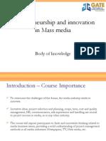 Entrepreneurship and Innovation in Media