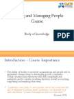 Leading and Managing People