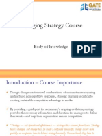Managing Strategy Course