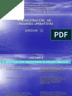 El Orientador en La Administracion de Unidades Operativas