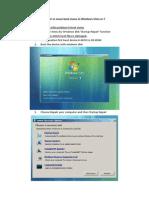 Repair or Move Boot Menu in Windows Vista or 7