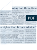 Afghan Injury Toll Three Times Higher Than Britain Admits by Gethin Chamberlain. Daily Times.02!10!2006