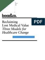 BoozCo Reclaiming Lost Medical Value Three Models