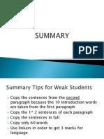 Summary & Literature