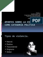 Apuntes sobre la violencia como categoría política