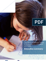 The Effects of National Testing in Science at KS2 in England and Wales