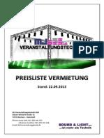 Preisliste 130922