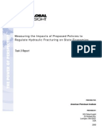 Measuring the Economic and Energy Impacts of Proposals to Regulate Hydraulic Fracturing (Task 3)