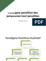 Kuliah Ke 4 Paradigma Penelitian Dan Penyusunan Teori Penelitian