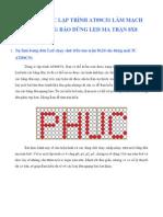 Huong Dan Lam Led Matrix Chay Chu