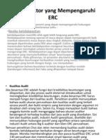 Faktor-Faktor Yang Mempengaruhi ERC