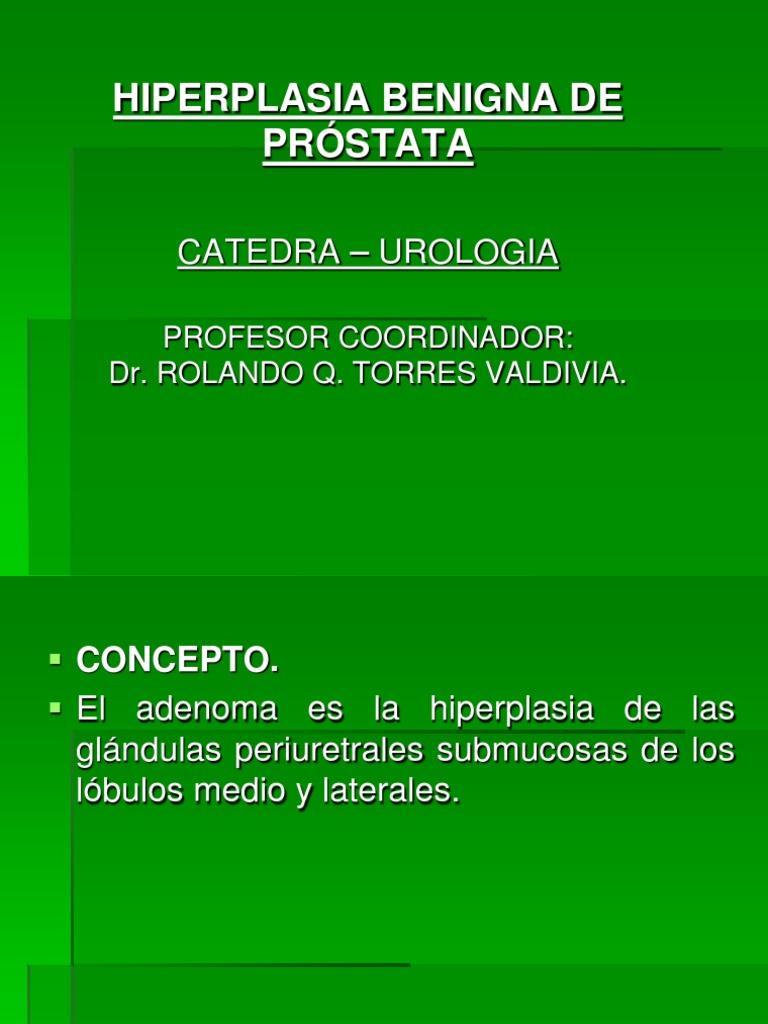 hipertrofia prostática inicial del lóbulo medio de