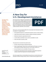 A New Day for US Development Assistance
