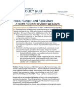 G8 09 Interaction Policy Statement FOOD SECURITY
