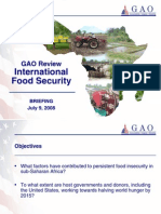 GAO Briefing Food Security