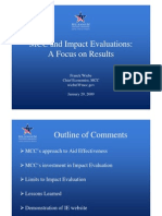 MCC and Impact Evaluations
