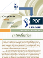 Corruption in IPL- By Ankit Kr. Bajpai
