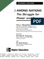 Politics Among Nations - Morgenthau