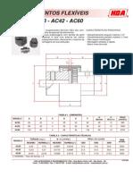 acoplamento flexíveis modelo AC28-AC42-AC60