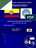 propuesta 2009 ecuador
