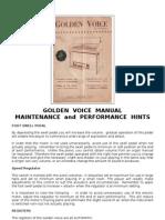 Farfisa - Golden Voice - Manual