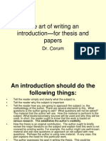 The art of writing an introduction