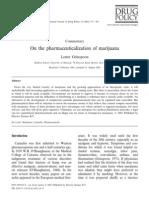On the Pharmaceuticalization of Marijuana