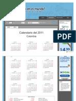Calendario Colombia 2011