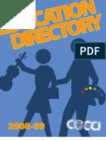 COCA's Arts in Education Directory 2009