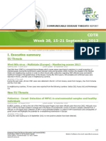 Communicable Disease Threats Report 21 Sep 2013