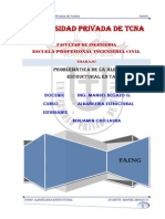 INFORME DE  ALBAÑILERIA ESTRUCTURAL