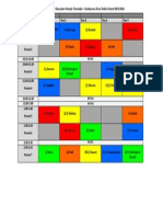HPE Timetable for Blog