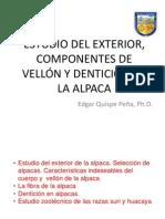 Exterior y componentes de vellón alpaca