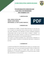 PLAN ANUAL DE CASTELLANO 5°grado